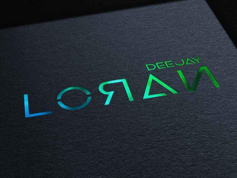lloran, dj , deejay, création, design, logo