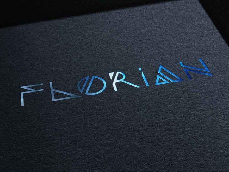 logo, florian, flrn, dj , deejay, création, design