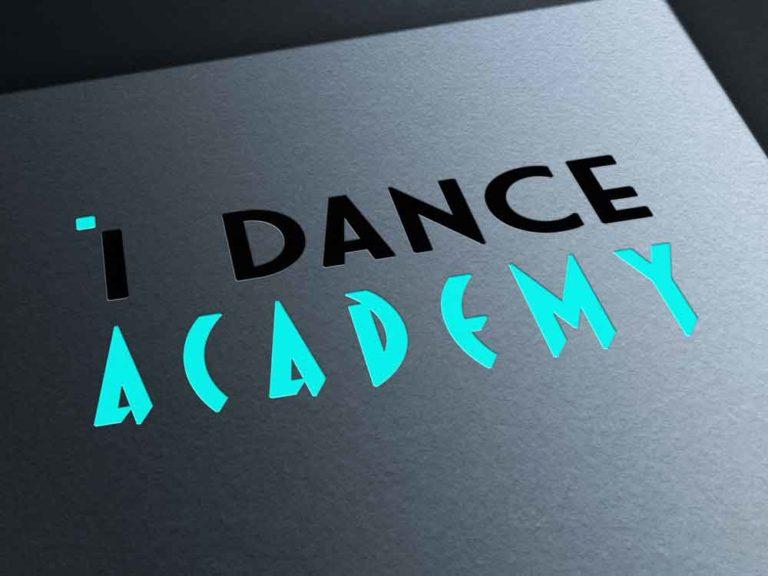 logo, i dance academy, création, design