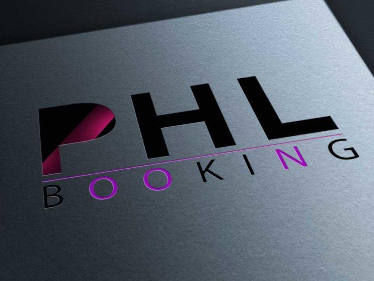logo, phl booking, création, design